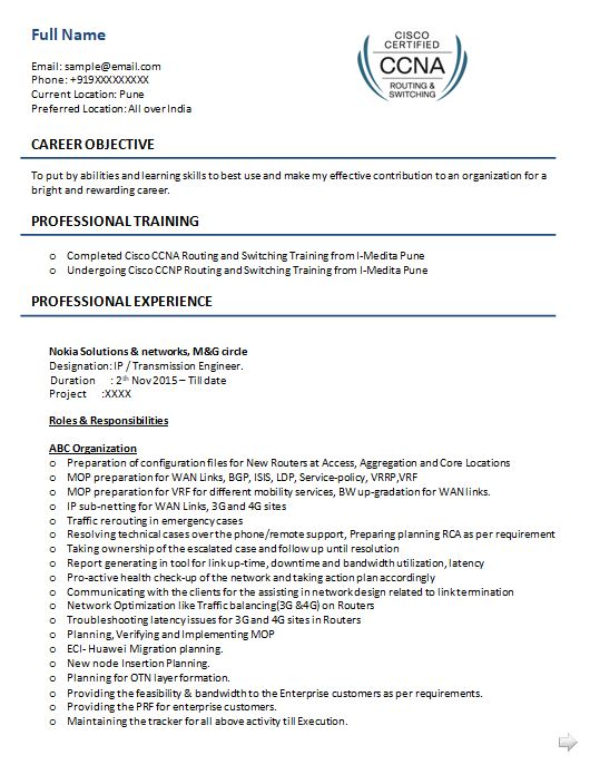 ccna resume samples top templates in title for network engineer sample product Resume Resume Title For Network Engineer