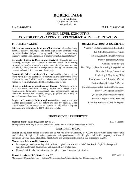 ceo resume example free templates sample executive11a student teacher samples data Resume Free Ceo Resume Templates