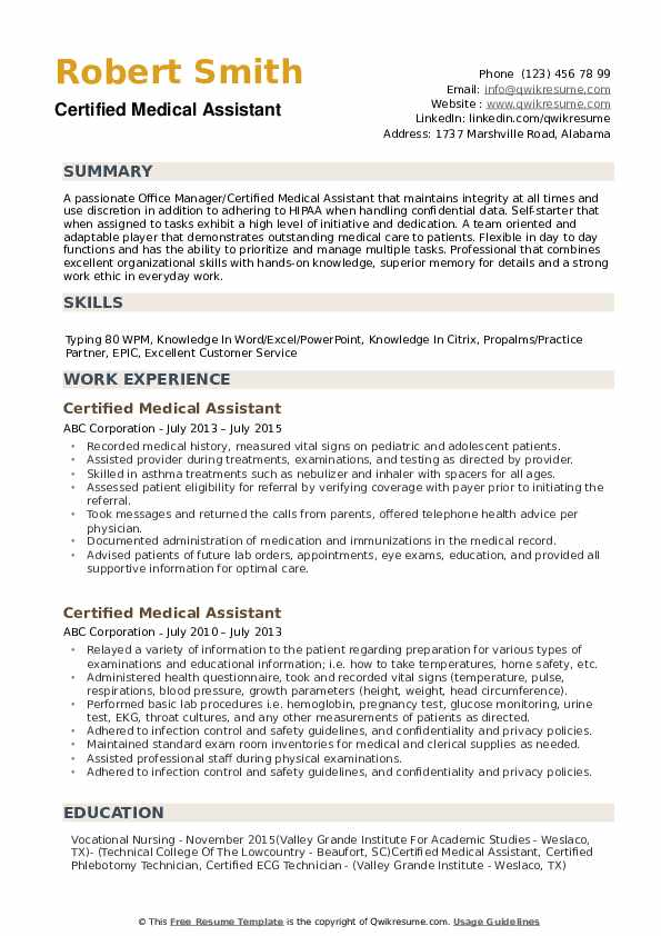 certified medical assistant resume samples qwikresume experienced pdf administrative Resume Experienced Medical Assistant Resume