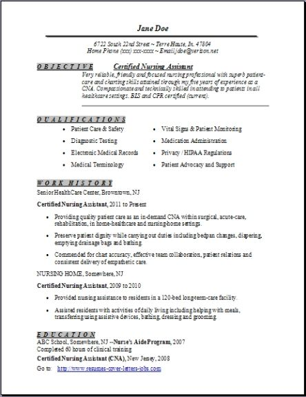 certified nursing assistant resume examples samples free edit with word cna template Resume Cna Resume Template Free
