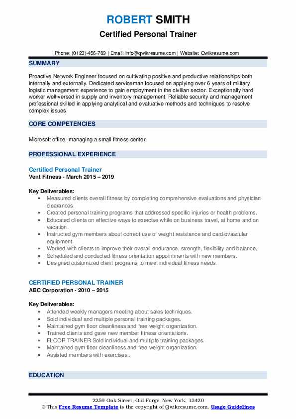 certified personal trainer resume samples qwikresume new pdf sample for credit card Resume New Personal Trainer Resume