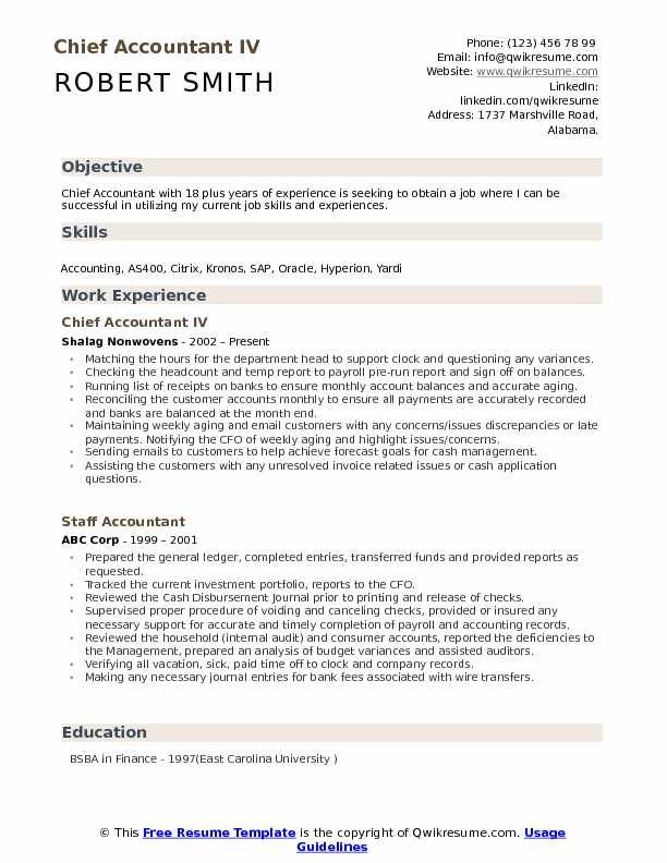 chief accountant resume samples qwikresume for position pdf best cover letter florist Resume Resume For Accountant Position
