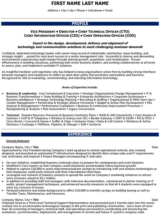 chief operations officer resume sample template of executive ex vp director technical Resume Sample Resume Of Operations Executive