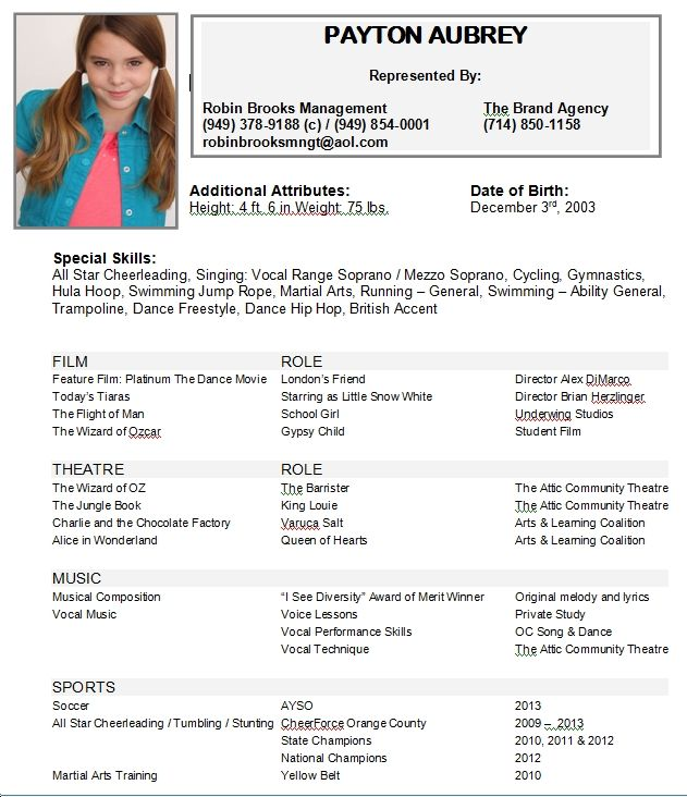 child acting resumes actor resume kids examples you the site owner launch this template Resume Child Actor Resume Template