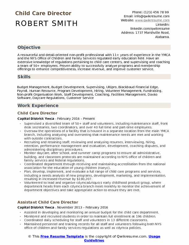 child care director resume samples qwikresume examples pdf employment gaps on latex of Resume Child Care Resume Examples