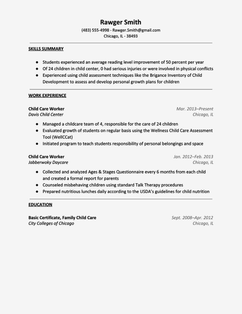 child care resume camba provider sample templates daycare teacher aides examples for Resume Child Care Provider Resume