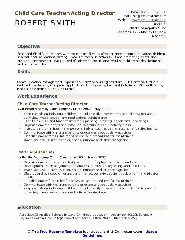 child care teacher resume samples qwikresume examples pdf employment gaps on for teachers Resume Child Care Resume Examples
