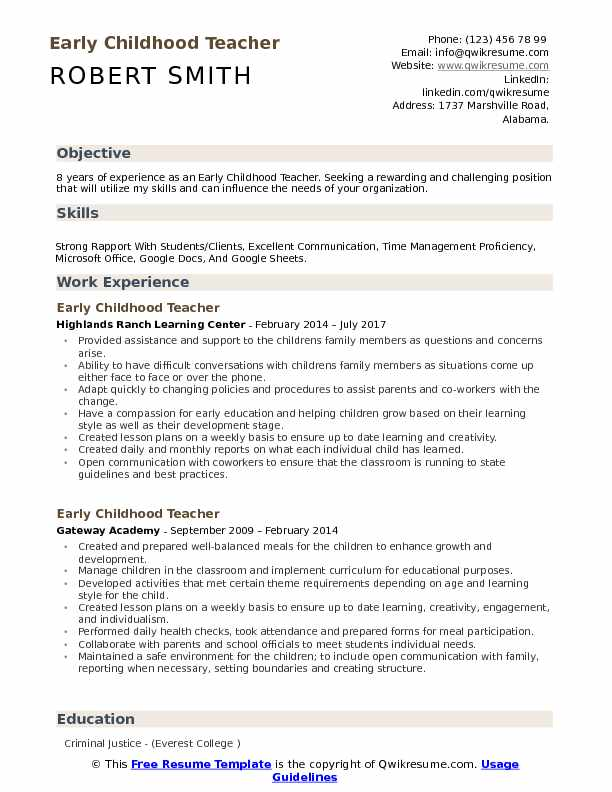childhood teacher resume samples qwikresume template pdf does now cost money apple genius Resume Early Childhood Teacher Resume Template