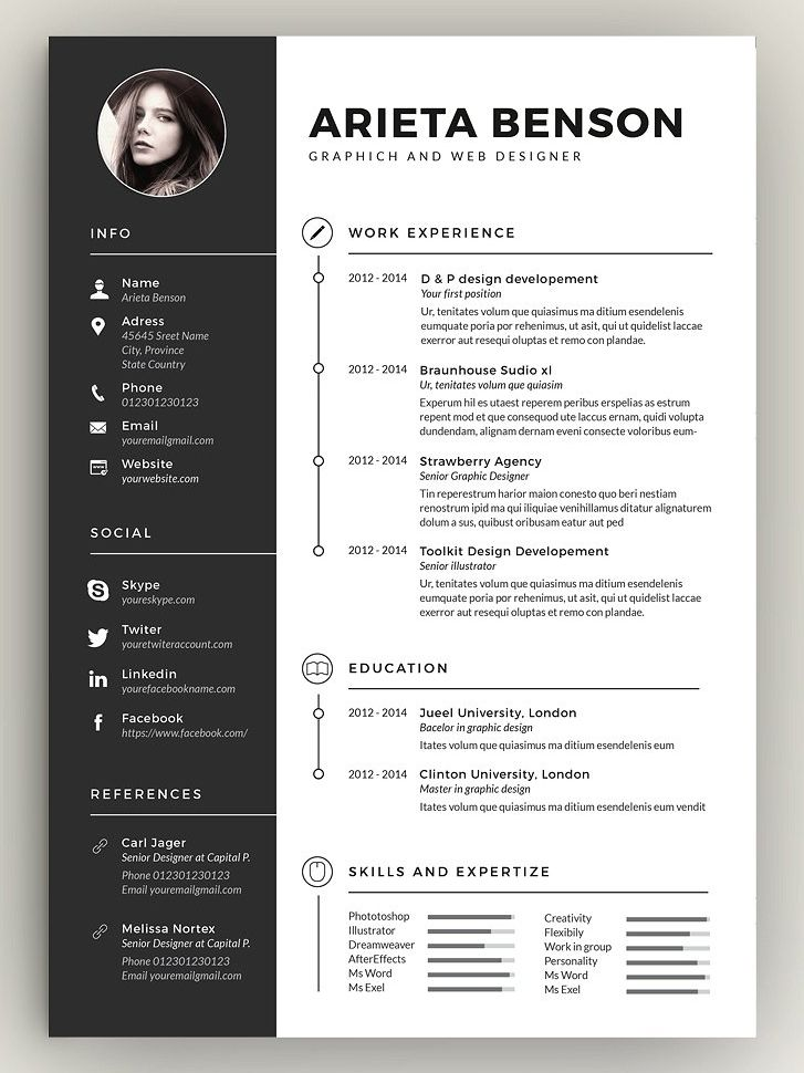 clean cv resume graphic design architecture creative resumes for employers free template Resume Online Resumes For Employers