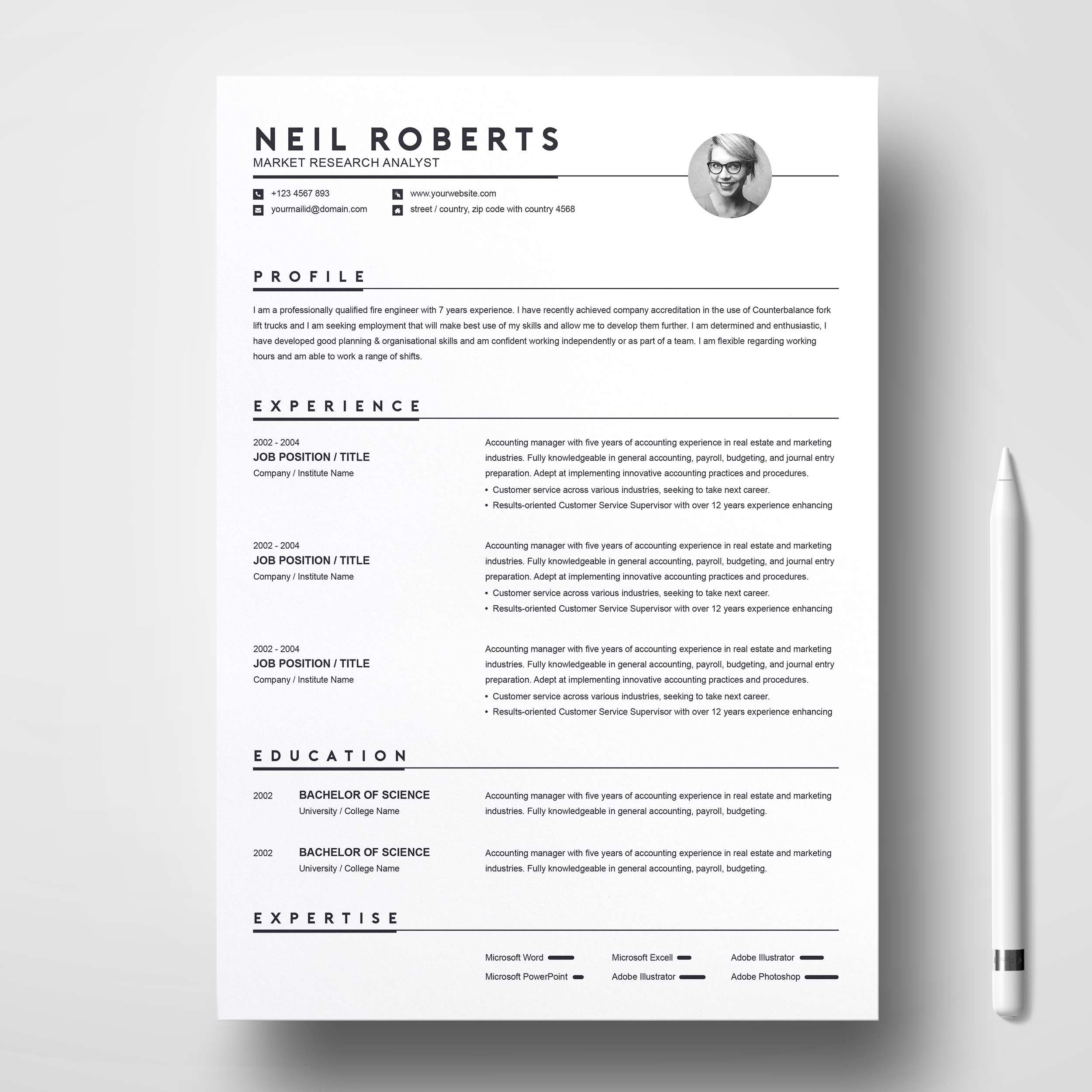 clean resume template word cv cover letter free resumes templates pixelify net Resume Clean Professional Resume Template