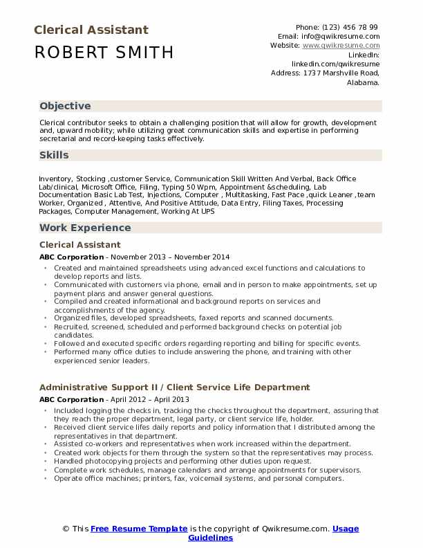 clerical assistant resume samples qwikresume examples pdf service coordinator airline Resume Clerical Resume Examples