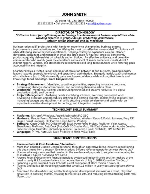 click here to this director of technology resume template http resumetemplates1 word Resume Information Technology Summary Resume