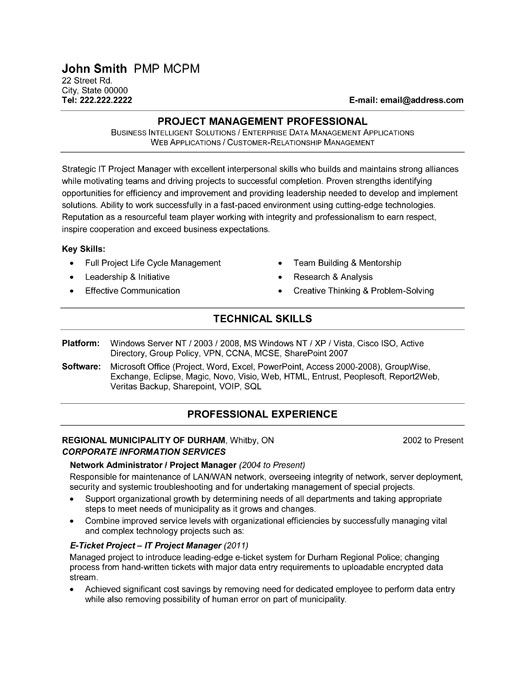 click here to this it project manager resume template http resumetemplates101 informati Resume Project Manager Resume Template