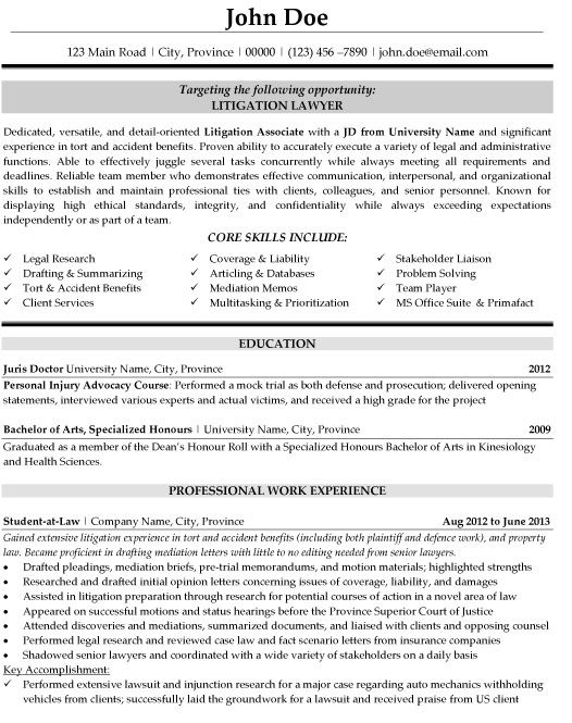 click here to this litigation lawyer resume template http resumetemplates101 law sample Resume Personal Injury Attorney Resume