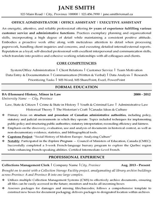 click here to this office administrator resume template http resumetemplates101 examples Resume Resume Templates Office Mac