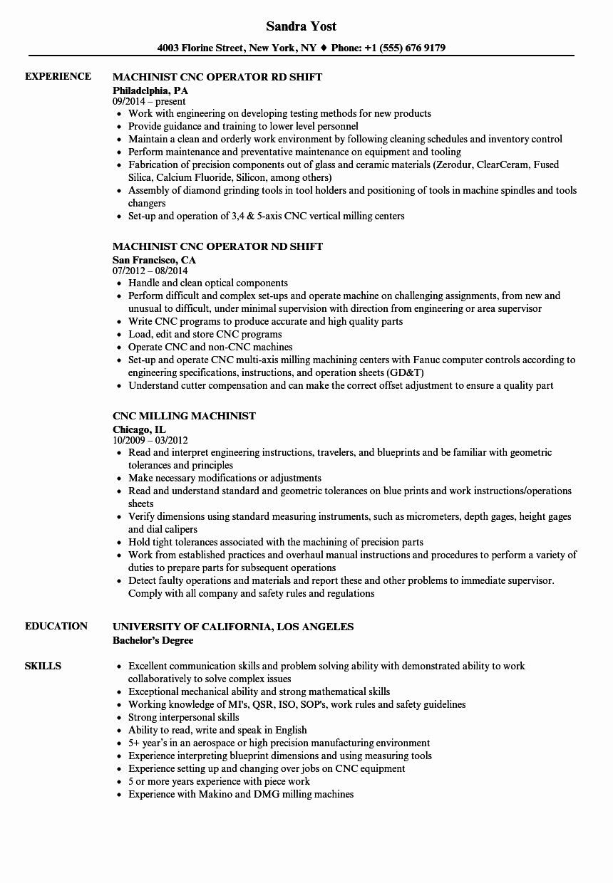 cnc machine operator resume awesome machinist samples template for and programmer action Resume Resume For Cnc Operator And Programmer