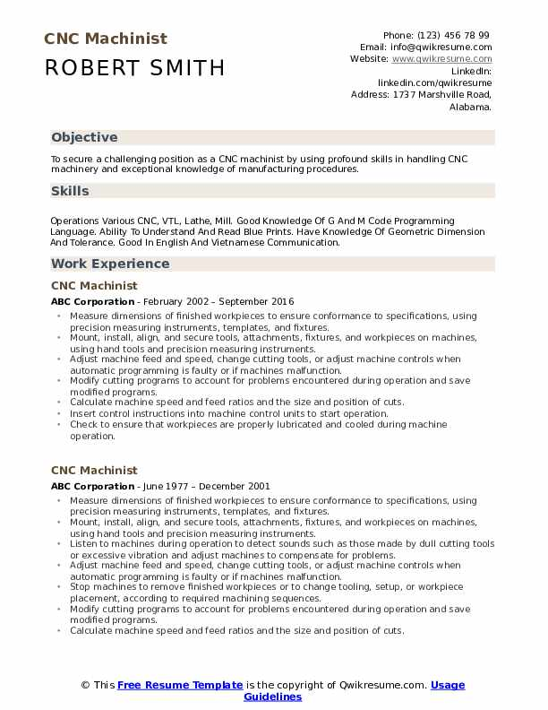 cnc machinist resume samples qwikresume for operator and programmer pdf disney cover Resume Resume For Cnc Operator And Programmer