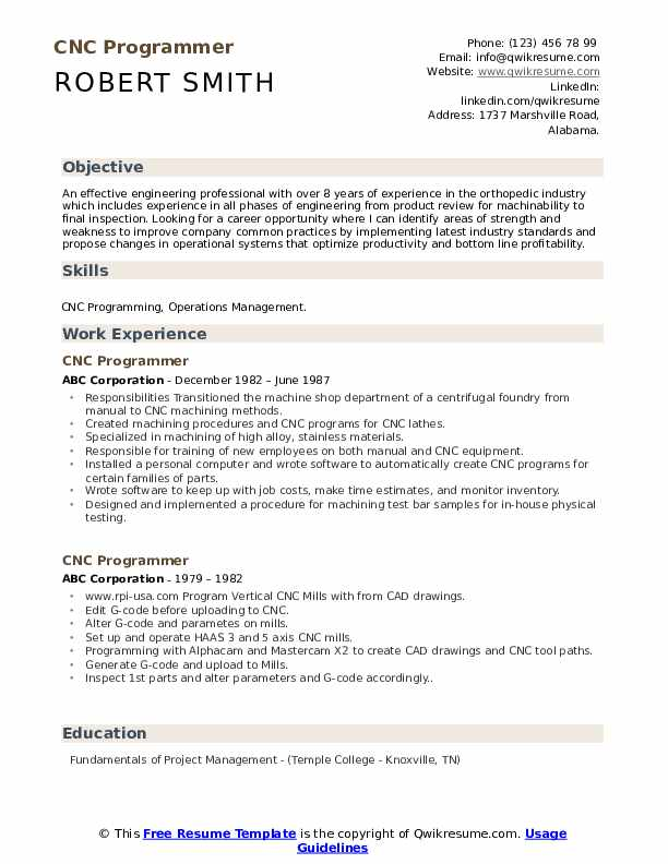 cnc programmer resume samples qwikresume for operator and pdf proper objective fire Resume Resume For Cnc Operator And Programmer