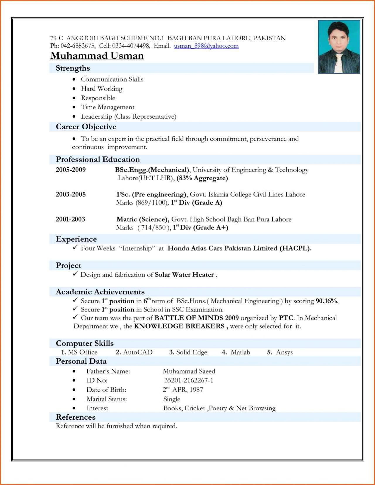college student resume format pdf best examples for freshers project engineer optimal wwu Resume Resume Format For Freshers Pdf