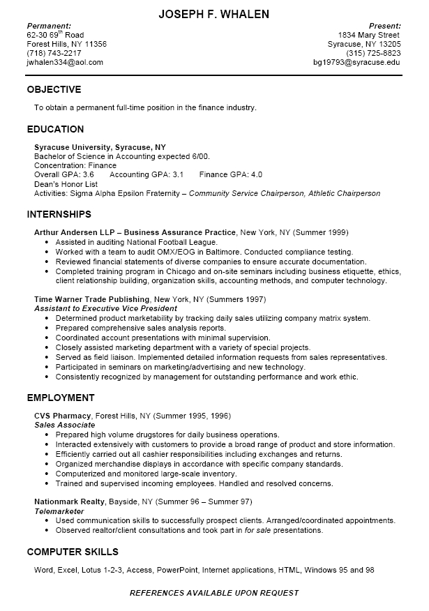 college student resume summary examples for students best sample asafonggecco in tulane Resume Summary For Resume College Student