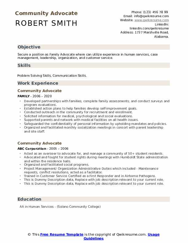 community advocate resume samples qwikresume human rights objective pdf food service Resume Human Rights Resume Objective