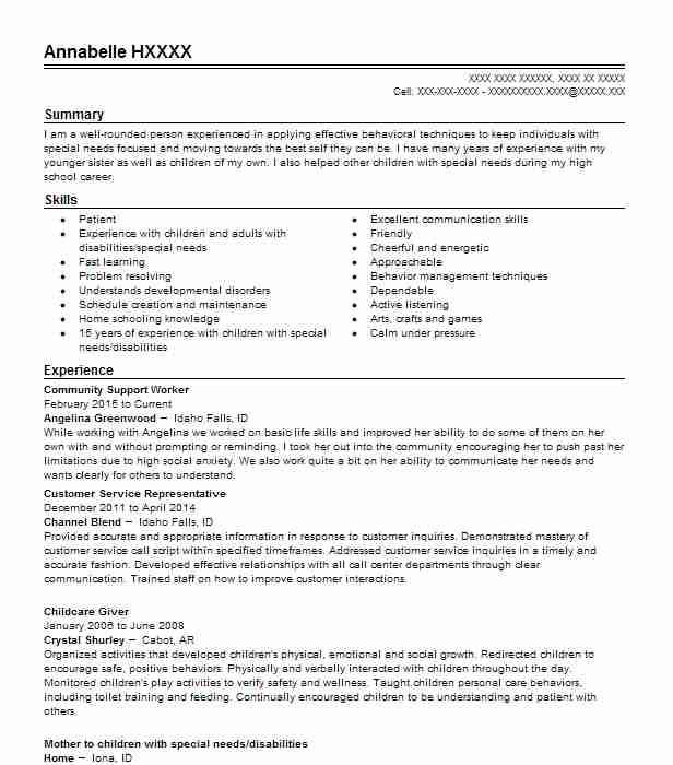 community support worker examples resumes livecareer specialist resume free templates Resume Community Support Specialist Resume
