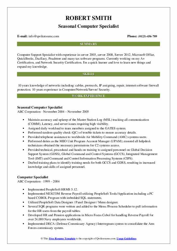 computer specialist resume samples qwikresume software programs for pdf functional based Resume Computer Software Programs For Resume