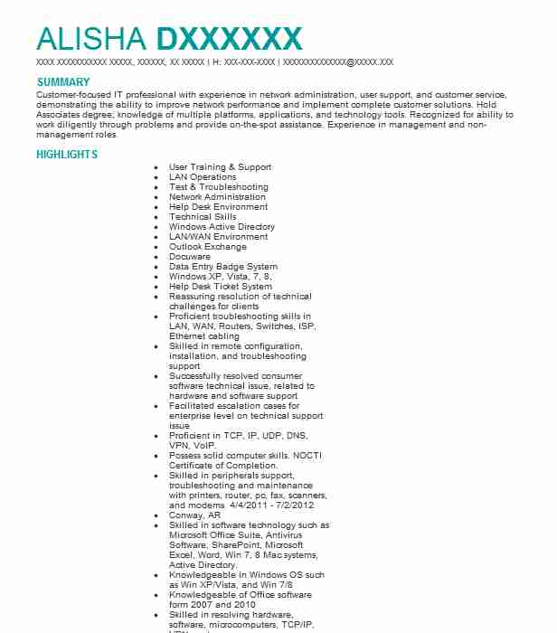 computer support specialist resume example resumes misc livecareer examples general Resume Computer Support Specialist Resume Examples