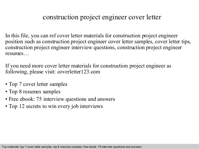 construction project engineer cover letter resume objective an example of summary for Resume Construction Project Engineer Resume Objective