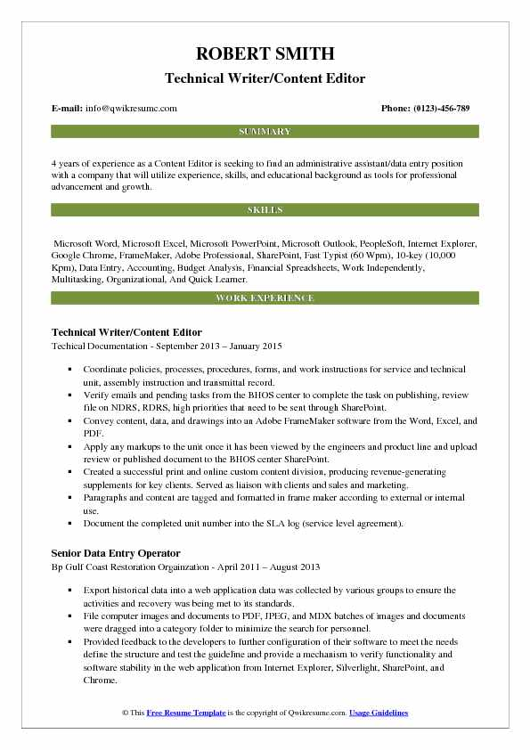 content editor resume samples qwikresume resumes for writers and editors pdf dependable Resume Resumes For Writers And Editors