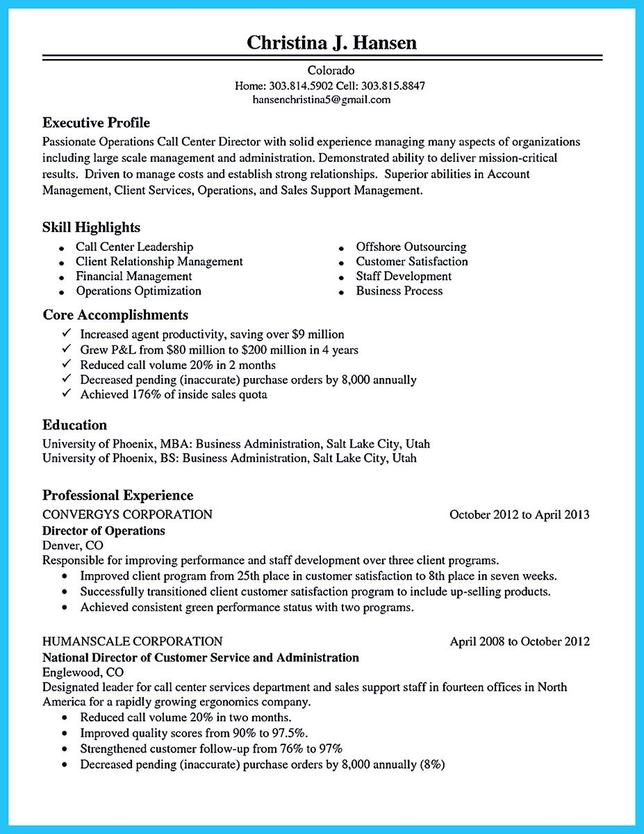 cool information and facts for your best call center resume sample good objective Resume Call Center Resume Template