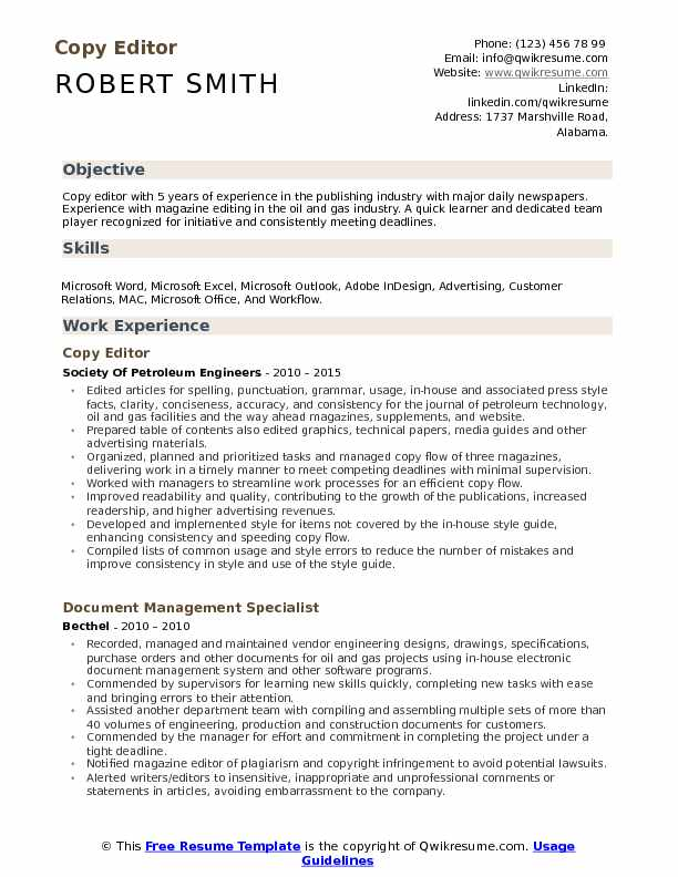 copy editor resume samples qwikresume of sample pdf private estate manager tefl Resume Copy Of A Resume Sample