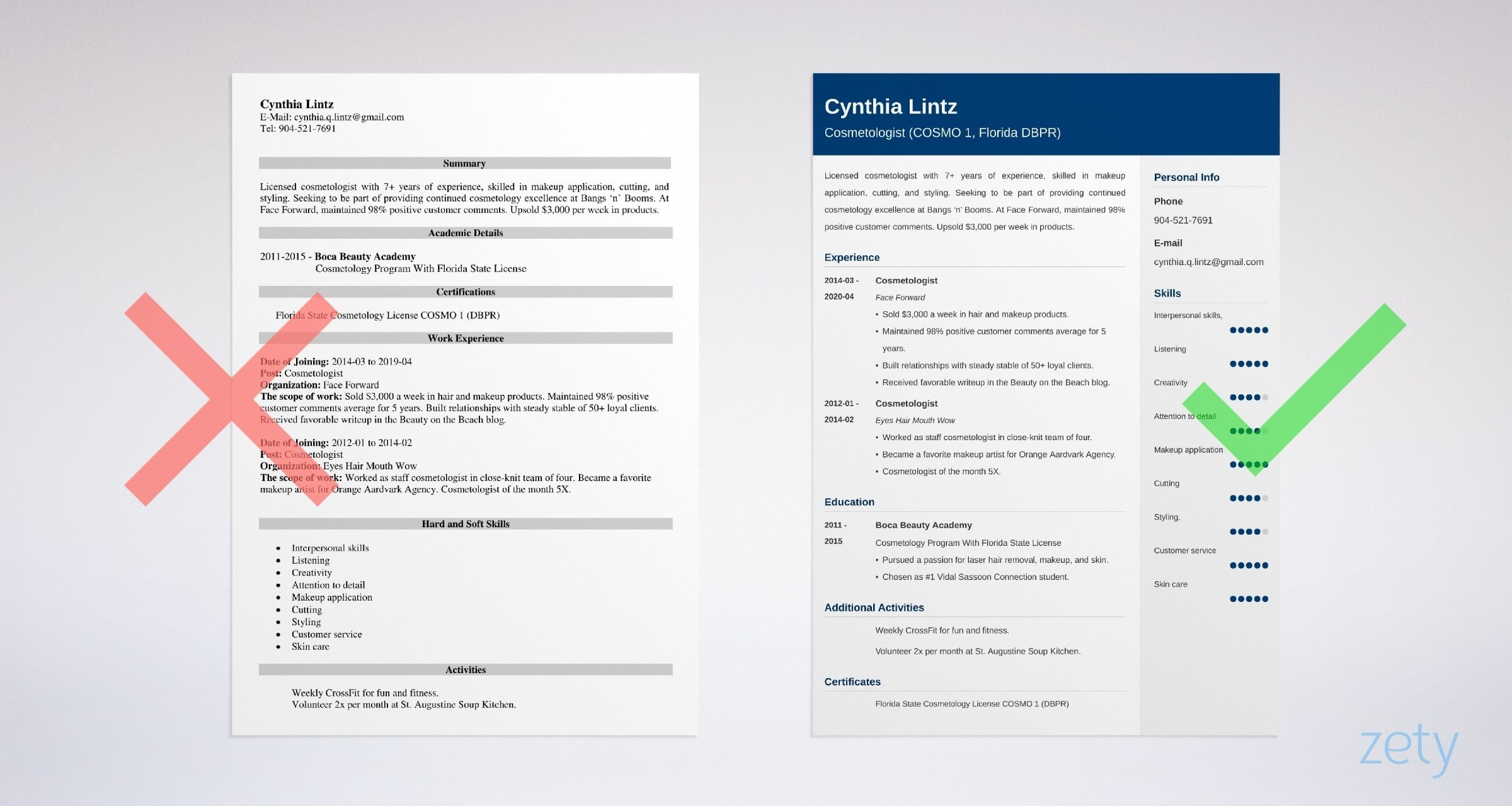 cosmetologist resume samples cosmetology skills included templates free example instant Resume Cosmetology Resume Templates Free