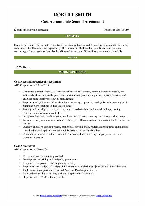 cost accountant resume samples qwikresume summary pdf indeed upload review order of Resume Cost Accountant Resume Summary