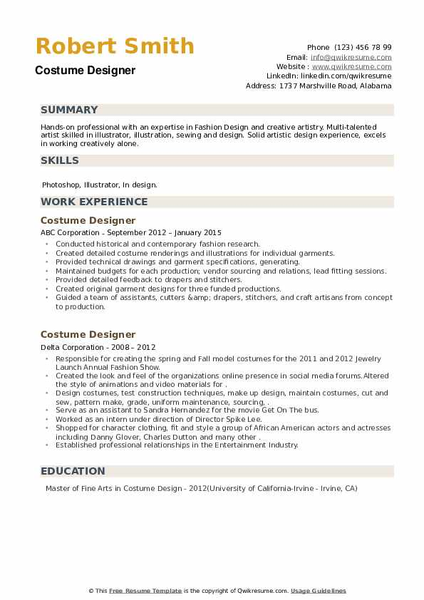 costume designer resume samples qwikresume template pdf best templates word faq fire Resume Costume Designer Resume Template