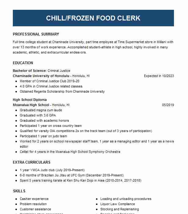 courtesy clerk resume example resumes livecareer duties professional social work examples Resume Courtesy Clerk Duties Resume