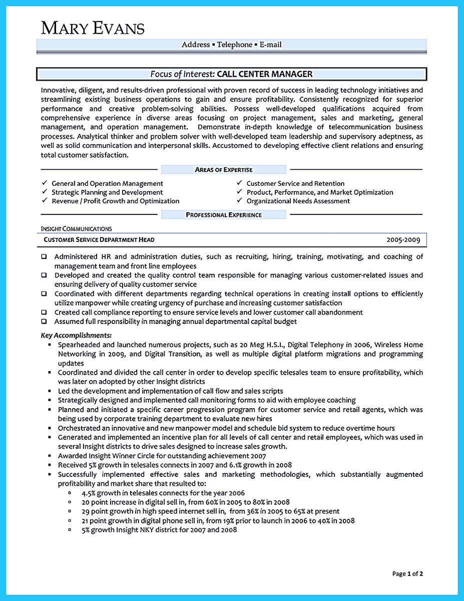 create charming call center supervisor resume with perfect structure bullets examples Resume Call Center Supervisor Resume