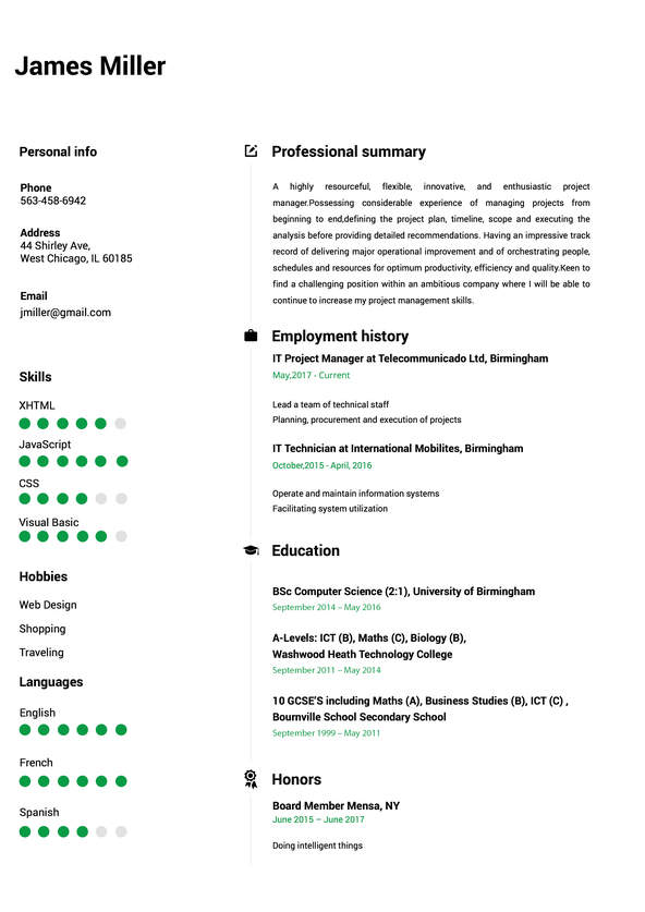 create perfect resume in minutes builder building from scratch carousel cv10 waitress Resume Building A Resume From Scratch