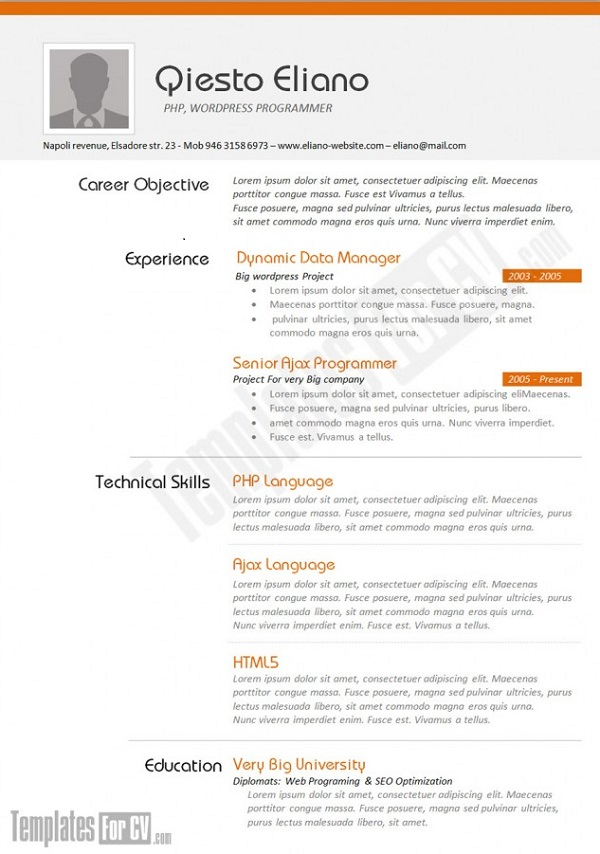 creative cv templates that make you stand out resume layouts awesome and examples job Resume Resume Layouts That Stand Out