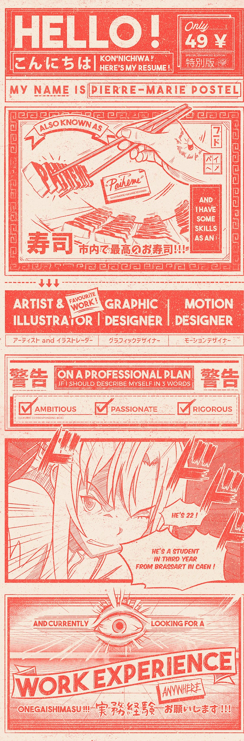creative graphic designer resume examples templates onedesblog design anime sample Resume Graphic Design Resume Examples
