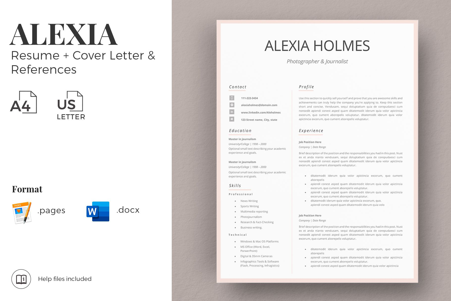 creative resume format for freshers internship template ms word and mac simp in templates Resume Amelia Phillips Resume Template