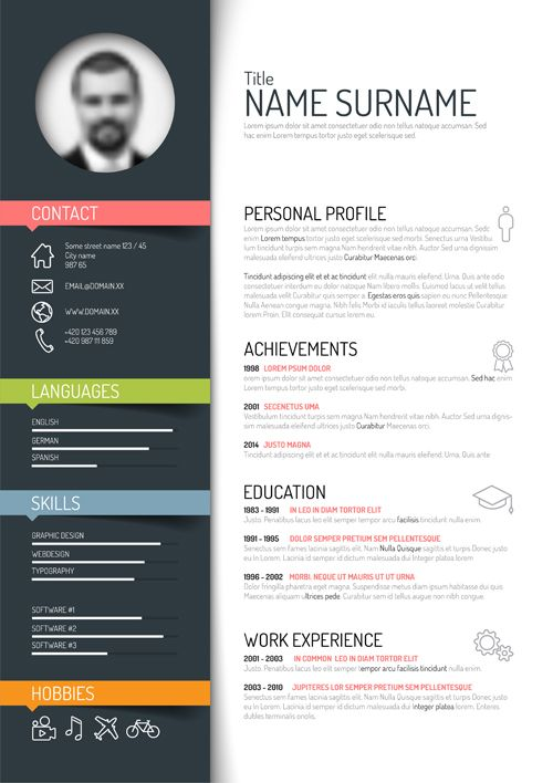 creative resume template design vectors vector business free word modern templates for Resume Free Modern Resume Templates For Word