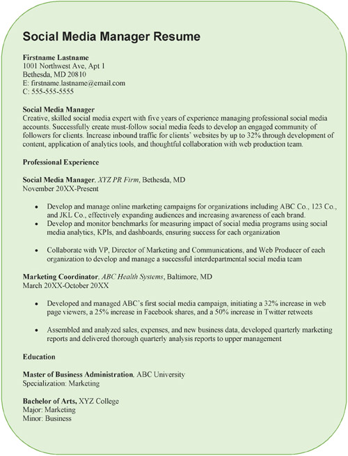 creative social media manager resume sample word pdf example best format examples sapui5 Resume Social Media Manager Resume Example