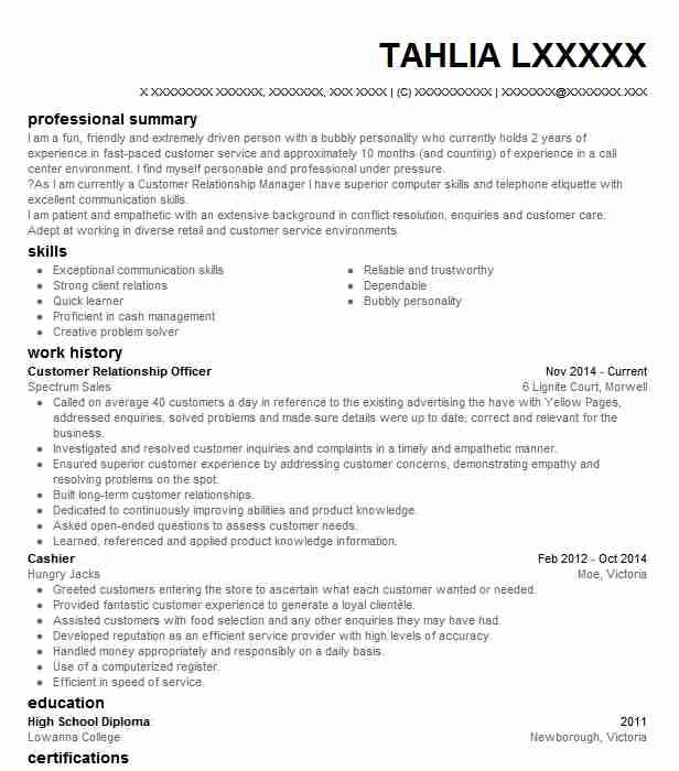 customer relationship officer resume example livecareer relations mastermind company Resume Customer Relations Officer Resume
