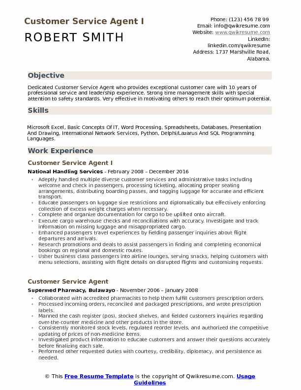 customer service agent resume samples qwikresume passenger objective pdf college examples Resume Passenger Service Agent Resume Objective