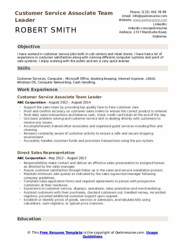 customer service associate resume samples qwikresume template for pdf free blank forms Resume Resume Template For Customer Service Associate