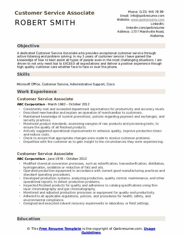 customer service associate resume samples qwikresume template for pdf microsoft certified Resume Resume Template For Customer Service Associate
