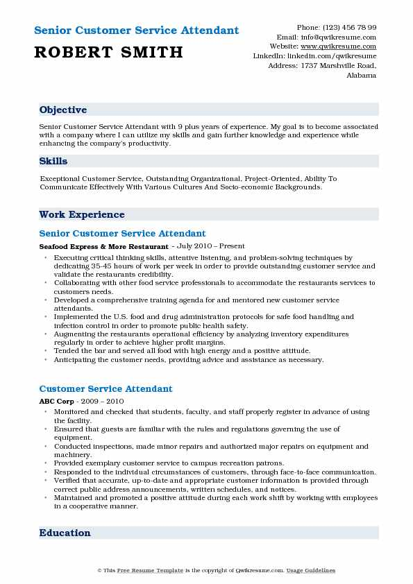 customer service attendant resume samples qwikresume pdf ability summary for office Resume Service Attendant Resume