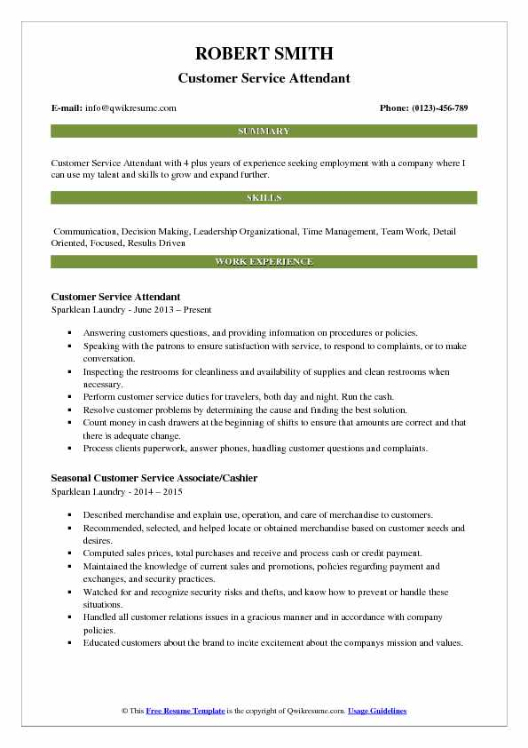 customer service attendant resume samples qwikresume pdf college degree on headline Resume Service Attendant Resume