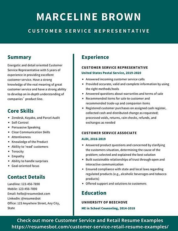 customer service resume samples and tips pdf resumes bot template for associate example Resume Resume Template For Customer Service Associate